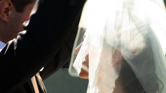 hd: wedding kiss - bride stock videos and b-roll footage