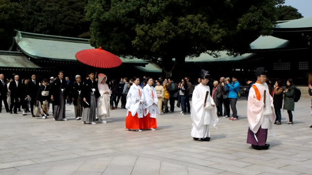 Wedding procession at Meiji Shrine, Tokyo, Japan
