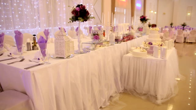 wedding reception table - wedding stock videos and b-roll footage