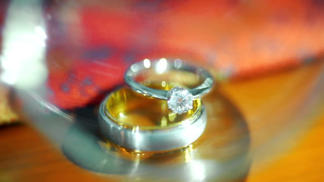 wedding rings for the bride and groom. - wedding ring stock videos & royalty-free footage