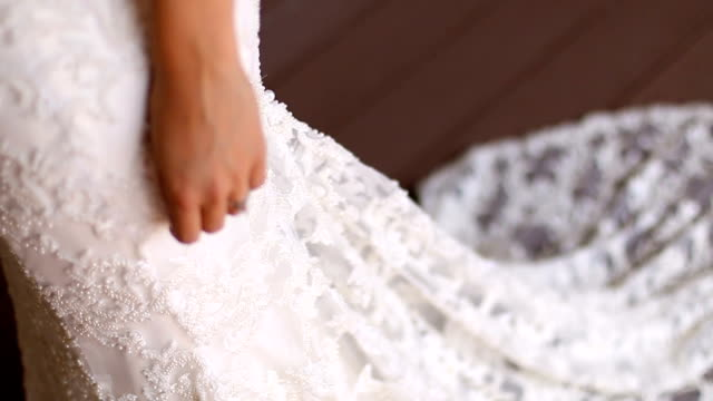 wedding scene - wedding dress stock videos and b-roll footage