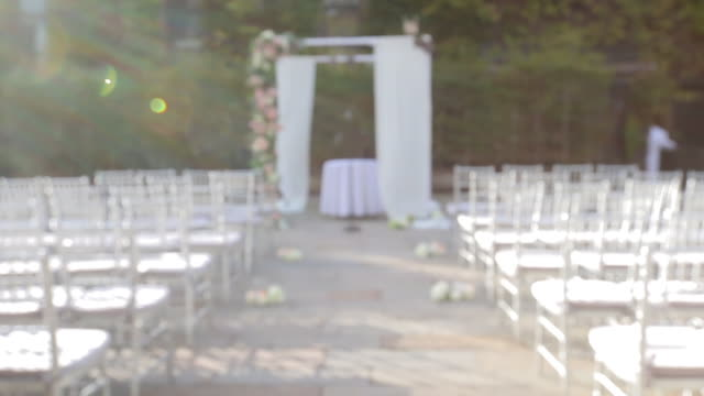 wedding scenery - altar - hochzeit stock-videos und b-roll-filmmaterial