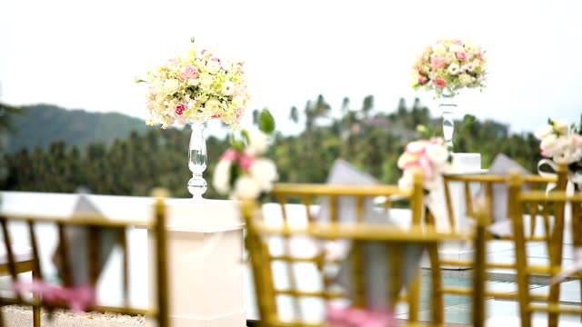 wedding set up. - formal garden party stock videos & royalty-free footage