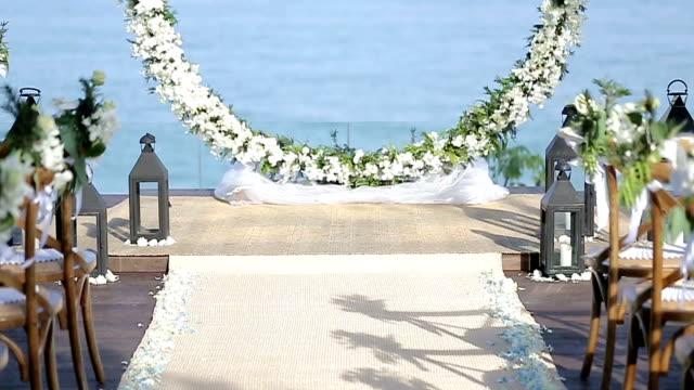 wedding set up. - order stock videos & royalty-free footage