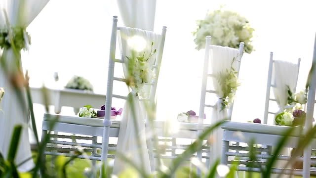 Wedding set up.