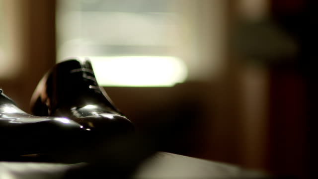Wedding shoes - stock footage