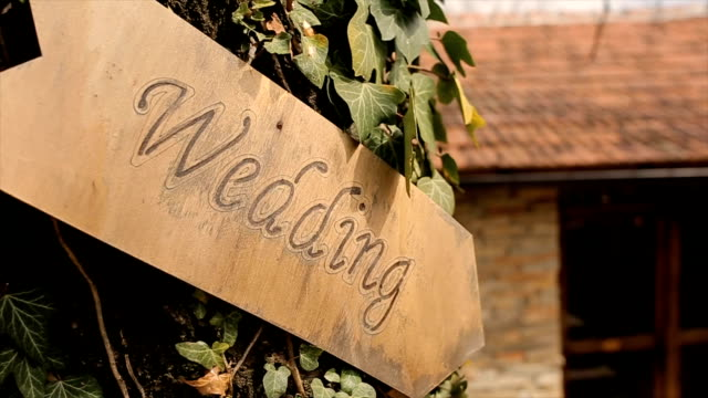 wedding sign,romantic - road sign stock videos & royalty-free footage
