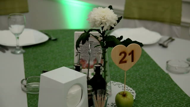 a wedding table set for an event party - decoration stock videos & royalty-free footage
