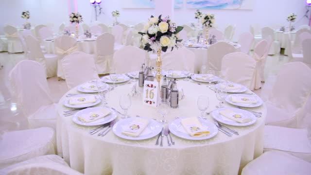 wedding table - wedding reception stock videos & royalty-free footage
