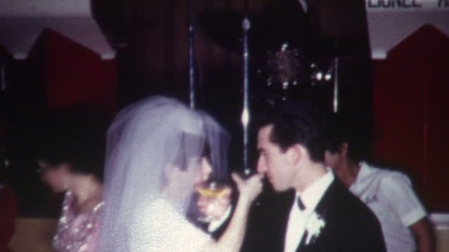 wedding toasts 1960's - nostalgia stock videos & royalty-free footage