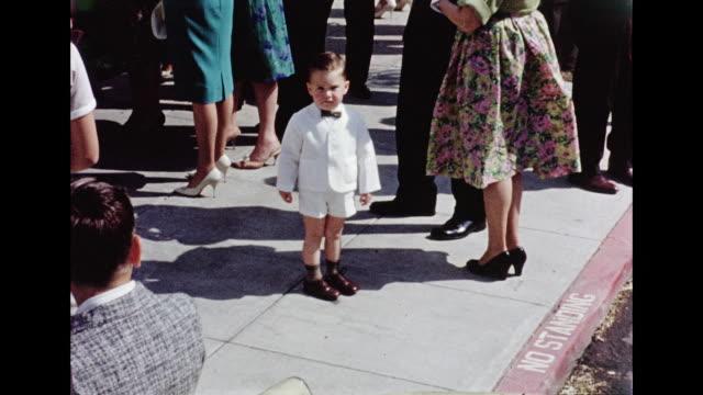 1962 wedding - schleife stock-videos und b-roll-filmmaterial
