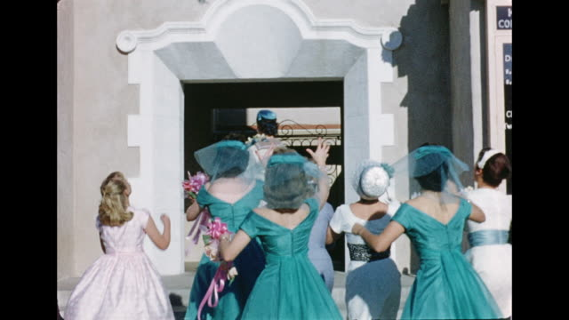 stockvideo's en b-roll-footage met 1962 wedding - 1962