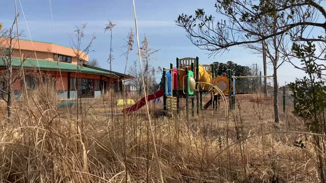 weeds grow inside an abandoned children's center on march 09, 2021 in okuma, japan. in ceremonies that are expected to be scaled back because of the... - abandoned stock videos & royalty-free footage