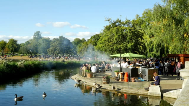 weekend in hyde park cinemagraph - hyde park london stock videos & royalty-free footage