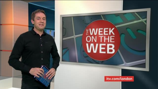 the week on the web england london gir int reporter to camera sot - グジャラート州点の映像素材/bロール