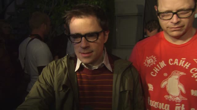 weezer on their shows being insane at the axe music 'one night only' concert series presents weezer at hollywood ca - follia video stock e b–roll