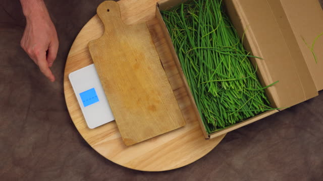 weighing chives - weight scale stock videos & royalty-free footage