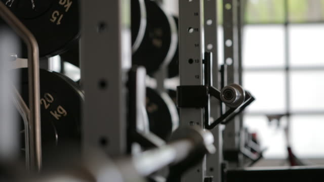 weight equipment - health club stock videos & royalty-free footage