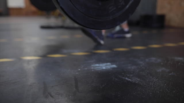 weight falling on gym floor - mass unit of measurement stock videos and b-roll footage