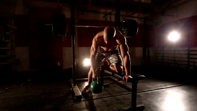 weight lifting - weight training stock videos and b-roll footage