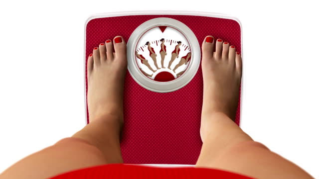 weight scale with figures - weight scale stock videos & royalty-free footage