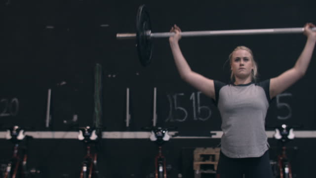 Weightlifter doing olympic snatches