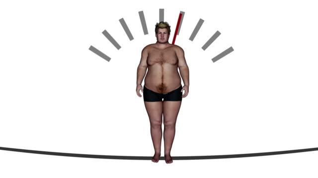 vídeos y material grabado en eventos de stock de weightloss jojo loop macho - delgado