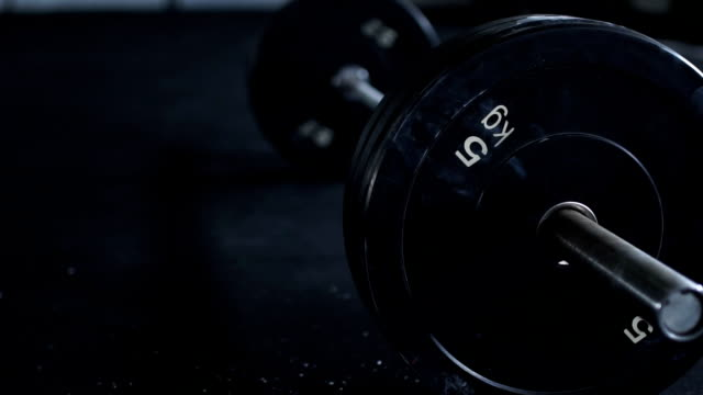 weights in gym on the floor - flooring stock videos & royalty-free footage