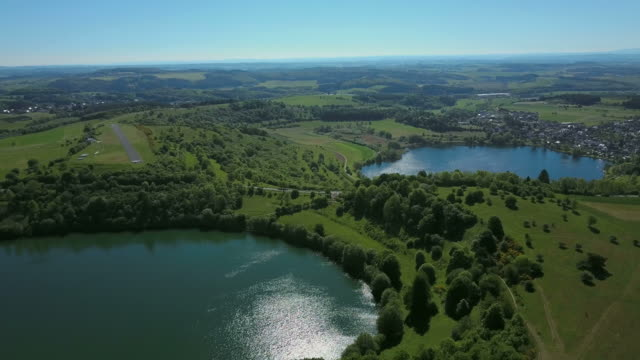 Weinfeld Maar and Schalkenmehren Maar, Vulkaneifel, Eifel, Rhineland-Palatinate, Germany