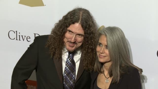 """Weird Al' Yankovic and Suzanne Krajewski at the 2017 PreGrammy Gala Honoring Debra L Lee With Grammy Salute To Industry Icons Award at The Beverly..."