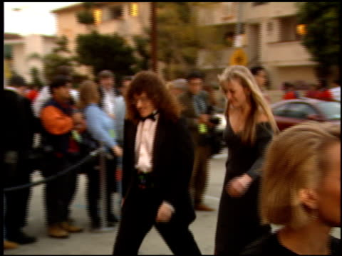 weird al yankovic at the comedy awards 94 at the shrine auditorium in los angeles california on march 6 1994 - ジャーマンコメディアワード点の映像素材/bロール