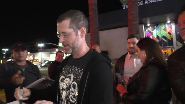 weiss greets fans outside the mythic quest - raven's banquet premiere at arclight cinerama dome in hollywood in celebrity sightings in los angeles, - cinerama dome hollywood stock videos & royalty-free footage