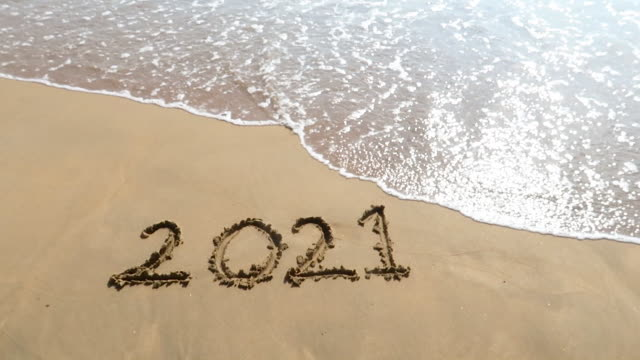 welcome 2021 - sand stock videos & royalty-free footage