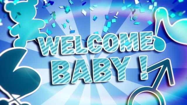 benvenuto baby! - desiderio video stock e b–roll