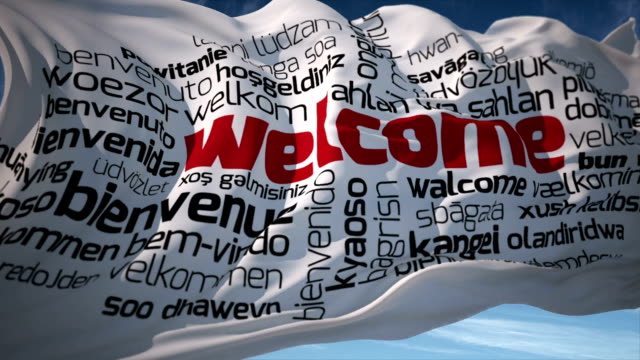 welcome in different languages - welcome sign stock videos & royalty-free footage