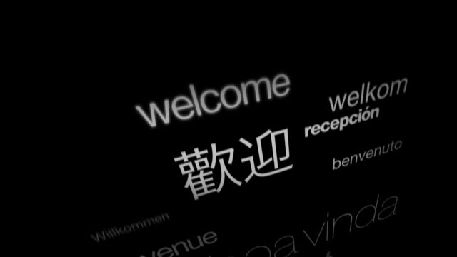 welcome, international languages - greeting stock videos & royalty-free footage