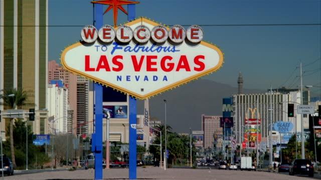 MS, Welcome sign on Las Vegas Boulevard, Las Vegas, Nevada, USA