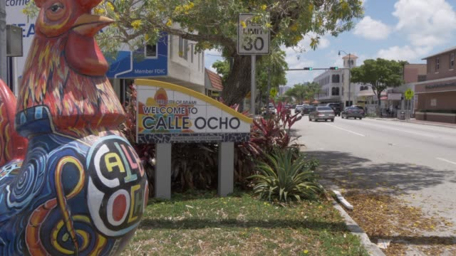 Welcome to Calle Ocho on 8th Street in Little Havana, Little Havana, Miami, Florida, United States of America, North America
