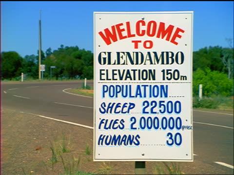 "ROAD SIGN - ""Welcome to Glendambo"" / Northern Territory, Australia"