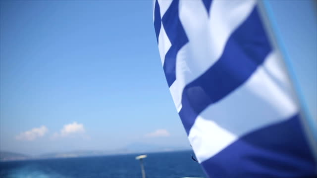 welcome to greece - tourboat stock videos & royalty-free footage