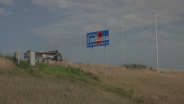 welcome to indiana highway sign - kentucky stock videos & royalty-free footage