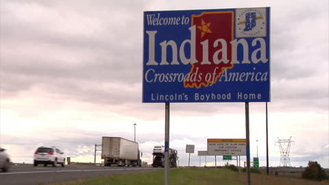"""'welcome to indiana"""" sign - indiana stock videos & royalty-free footage"""