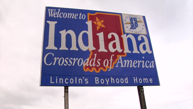 'Welcome to Indiana' signage