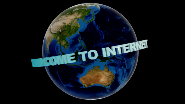 welcome to internet, loop with alpha channel - www stock videos & royalty-free footage