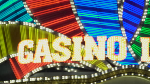 welcome to las vegas - casino sign stock videos & royalty-free footage