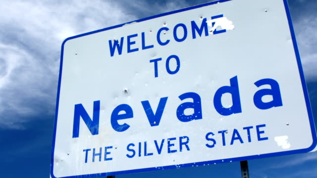 welcome to nevada sign - nevada stock videos & royalty-free footage