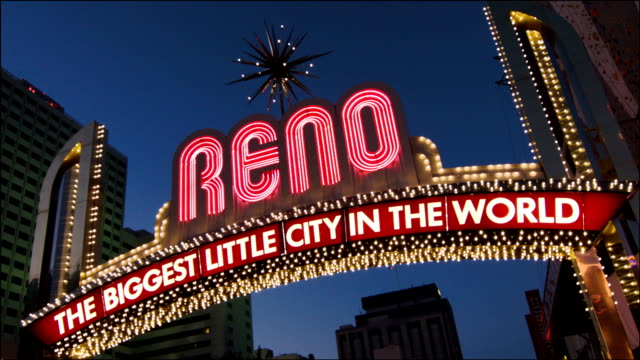 welcome to reno - nevada stock videos & royalty-free footage