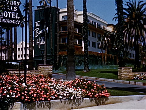 1945 - welcome to southern california - 10 of 23 - beverly hills california stock-videos und b-roll-filmmaterial