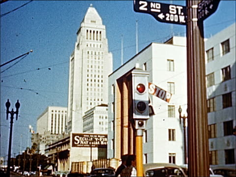 1945 - welcome to southern california - 2 of 23 - beverly hills california stock-videos und b-roll-filmmaterial