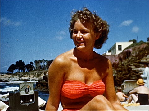 1945 - welcome to southern california - 20 of 23 - laguna beach california stock videos & royalty-free footage